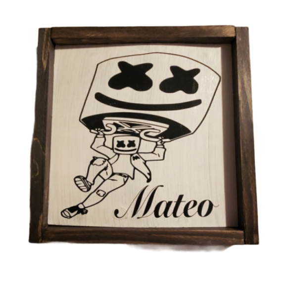Hand crafted   Personalized Marshmello Wall Art